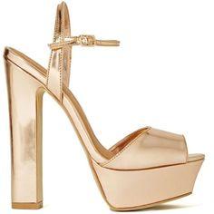 Shoe Cult Eva Platform (3.100 RUB) ❤ liked on Polyvore featuring shoes, sandals, heels, scarpe, rose gold, synthetic shoes, platform heel sandals, high heel shoes, high heel sandals and ankle wrap sandals