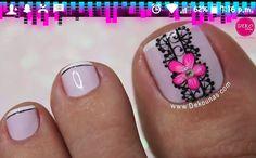Gemstone Rings, Gemstones, Nails, Floral, Toenails, Pink, Short Nails, Pedicures, Nail Designs
