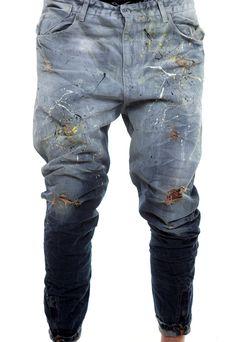 light to dark blue jeans  #handmade #man #denim #vagrancylifestyle