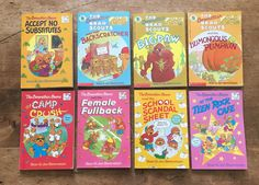 8 Berenstain Bears chapter books | Free Priority Shipping in the US | vintage chapter books | vintage paperback books | vintage book sets