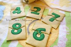 Handmade Felted numeric puzzle-box