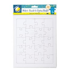 Craft Planet 40 Piece 2 Blank A4 Jigsaw Make A Puzzle White