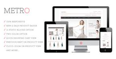 Metro Responsive Magento Theme - ThemeForest Item for Sale