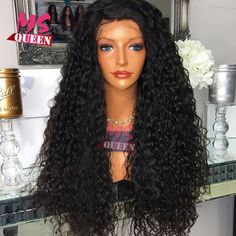Cheap synthetic lace front wig, Buy Quality wigs for blacks directly from China wig black Suppliers: Loose Curly Black Synthetic Lace Front Wig With Baby Hair Thick Full Head Heat Resistant Syntheti