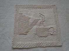 I Heart Books Knit Dishcloth pattern by Lisa Millan (With