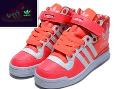 Adidas Forum Lors Watermelon Red Big Logo Glow In The Dark Shoes