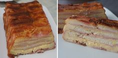 Pan de molde con jamón, queso y bacon, Si te gusta dinos HOLA y dale a Me Gusta MIREN … | Receitas Soberanas Tapas, Buffet, French Toast, Bacon, Sandwiches, Brunch, Food And Drink, Appetizers, Paninis