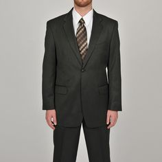 Overstock.com- -Adolfo Mens Grey 2-button Suit Separate Coat