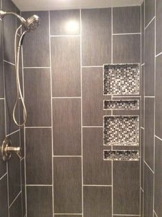 Large format porcelain tile installed on the vertical is much more interesting. $1.99 sq. foot