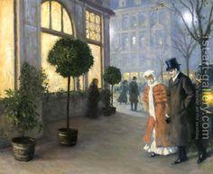 Paul Gustave Fischer (1860-1934): After the Theatre (Efter Teatret)