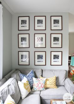 Beautiful gallery wall layout from Inspired by Charm