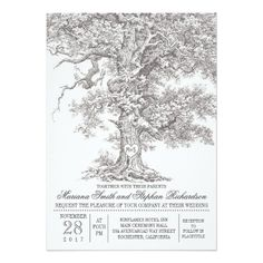 "unique, light gray and elegant design rustic wedding invitation featuring old oak tree with romantic carved love heart and bride and groom's initials. Perfect invite for outdoor wedding. ----If you push CUSTOMIZE IT button you will be able to change the font style, color, size, move it etc. it will give you more options! Contact me if you need more matching items or have a custom color request. <div style=""text-align:center;line-height:150%""> <a…"