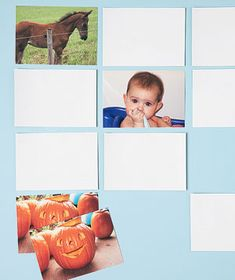 Give a good ol game of memory a personal touch. Print doubles of your favorite photos, turn them upside down, and start flipping. It's twice the fun for you and your child. (And, hey, this mental exercise may prove handy when its time to find the keys. Craft Activities For Kids, Activity Games, Games For Kids, Kids Crafts, Foto Memory, Photo Memories, Memory Games, Family Games, Family Pictures