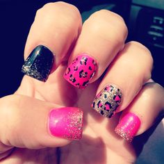 My nail girl rocks! #awesomenails #animalprintnails #cutenaildesigns