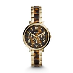 Jacqueline Multifunction Stainless Steel and Acetate Watch u2013 Gold-Tone