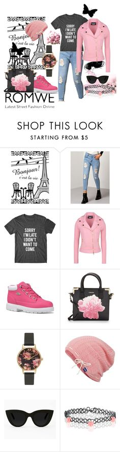 """""""Street Fashion"""" by latinavixn ❤ liked on Polyvore featuring Boutique Moschino, Lugz, Calvin Klein, Olivia Burton, Keds, Quay and Accessorize"""