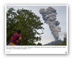 Vulkan Sinabung Indonesien wieder aktiv