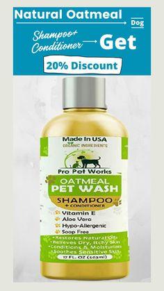 Homemade Dog Shampoo, Diy Shampoo, Natural Dog Shampoo, Vitamin E, Healthy Hair, Aloe Vera, Moisturizer, Conditioner, Dogs