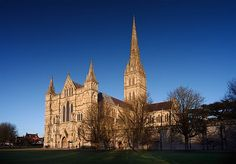 """Salisbury Cathedral - Absolutely gorgeous!  Particularly interesting after reading Edward Rutherford's """"Sarum"""" which follows the history of the area starting from the ice age."""