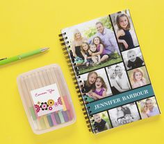 A great tip for first-time students: It can be scary to be away from home for the first time - custom stickers and photo notepads help your student feel loved at school!