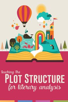 How can analysis of the plot structure help with literary analysis? Use these engaging literature activities to help secondary ELA students. Improve Reading Comprehension, Plot Outline, English Lesson Plans, English Lessons, High School English, Art Classroom, English Classroom, Language Arts, Middle School