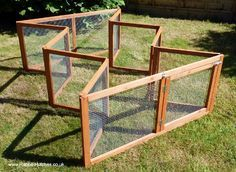 collapsible rabbit run - cool idea for rabbits and any other small pets you'd like to have some time outside.