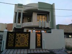 The exterior is the face of the house that everyone will see in the first part. Take a look at the world's most beautiful modern homes and find House Wall Design, House Main Gates Design, House Outside Design, Duplex House Design, House Front Design, Small House Design, Cool House Designs, Modern House Design, Classic House Exterior