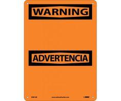 Warning ADVERTENCIA BLANK, Bilingual, 14X10, .040 Aluminum