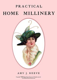 1912 Millinery Book Make Hats WWI Titanic DIY by schmetterlingtag, $14.99