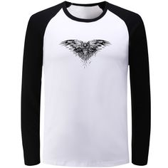 Manches Longues T-shirt Hommes Femmes Game of Thrones Tous Les Hommes doit Mourir Filles Garçons T-shirt Hip Hop T-shirt Punk Tee Tops T Shirt Top, Shirt Men, Jon Snow, Game Of Thrones, Boys T Shirts, Sweatshirts, Crow, Tees, Long Sleeve