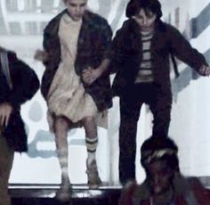 Who else noticed mike and el holding hands???