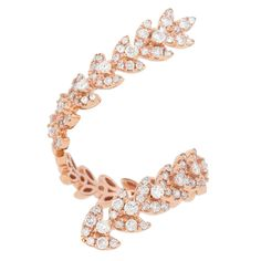 18K Rose Gold & Diamond 'Sorraine' Ring by MicheleLynnJewels on Etsy