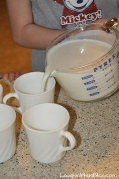Hot vanilla milk ready