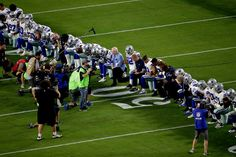 Dallas Cowboys and Jerry Jones Take a Knee Prior to Anthem
