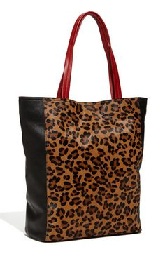 Steven by Steve Madden Animal Print Calf Hair Tote