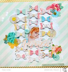 Ein tolles Layout von Paige Evans. die Schleifchenidee finde ich super,  http://www.paigeandchris.com/ photo Adorable by PaigeEvans.jpg
