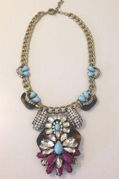 Tortoise Turquoise Statement Necklace