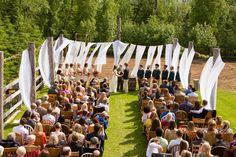 A Rustic, Vintage Wedding at Gloryview Farm in Wasilla, Alaska Wasilla Alaska, Nursing Students, Real Weddings, Wedding Ceremony, Dolores Park, Rustic, Reception Ideas, Daughters, Outdoor