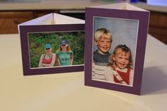 DIY photo centerpieces tutorial - one photo and one side table #