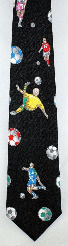 Mens Ties Watercolor Soccer Ball Sport Neck Tie Trendy Neckwear For Men