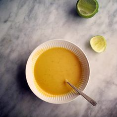 Orangette: Squash Soup with coconut milk and lime