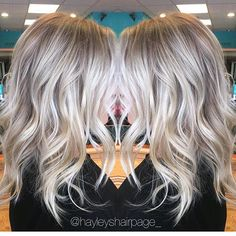 Ash blonde shadow root