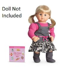 American Girl Bitty Baby or Bitty Twin Camo Jumper Outfit for Dolls + Book NIB #AmericanGirl