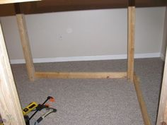 Project Playroom– Building a Reading Loft / Fort / Indoor Treehouse: The Building Continues Playroom Slide, Reading Loft, Woodworking, Indoor, Flooring, Wood Work, Building, Projects, Home Decor