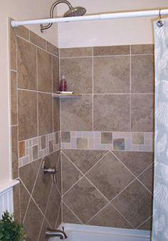 tub surround tile pattern