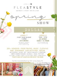 Visit met at Flea Style Dallas on April 7 & 8