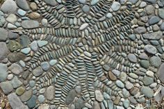 Gardens by Jeffrey Bale in Eugene, OR An attempt at making a fern Pebble Mosaic