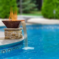 Square Copper Fire And Water Bowl Kit - 28 Inch