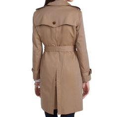 SALE✨Brooks Brothers • Women's Trench 100% Authentic Brooks Brothers Double Breasted Trench in beautiful condition. Size 8. Dry clean only.  Just had this dry cleaned and it came back with a smudge that they could not get out. Updated the photos to reflect it.                                                      No Trades  No PayPal  ‼️ Open to credible offers  ‼️ Bundle Options available to receive even BIGGER Discount Brooks Brothers Jackets & Coats Trench Coats