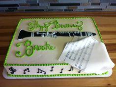 Clarinet birthday cake
